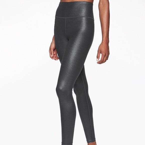 4abb8e9fc9c516 Athleta Pants | Elation Shimmer Tight Black Xsp | Poshmark